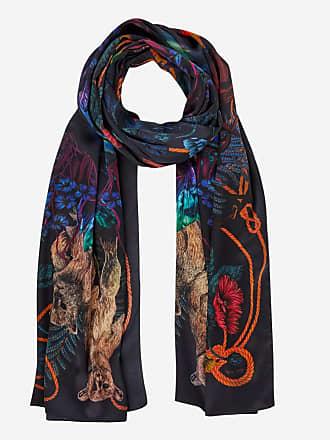 f7b186942209 Paul Smith Echarpe en soie tissée imprimé Explorer Multicolore Paul Smith