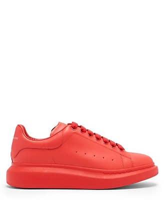 Alexander McQueen Alexander Mcqueen - Raised Sole Low Top Leather Trainers - Mens - Red