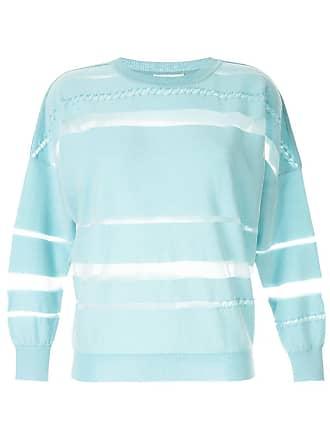 Onefifteen Suéter com recortes translúcidos - Azul