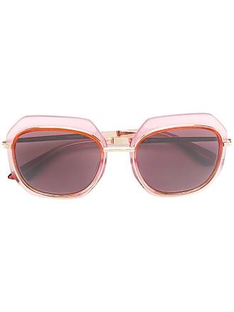 Emmanuelle Khanh oversized frame sunglasses - Rosa