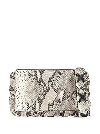 Red Valentino snake-embossed clutch - Neutro