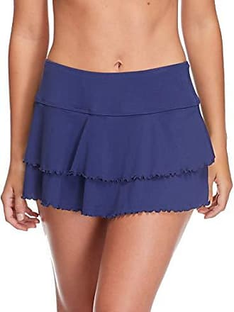 Body Glove Womens Smoothies Lambada Solid Mesh Cover Up Skirt Swimsuit, Midnight, Small
