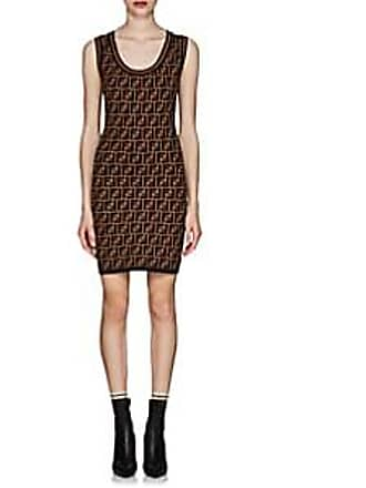 7fb278bbbcb7 Fendi Womens Logo Knit Body-Con Dress - Brown Size 38 IT