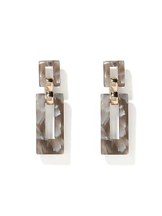 Forever New Delta Resin Link Drop Earrings - Grey - 00