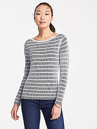 ANN TAYLOR Plaid Fitted Boatneck Sweater