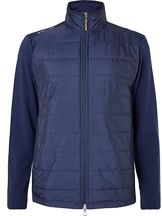 1b45850c2 Ralph Lauren Slim-fit Quilted Shell And Stretch-wool Golf Jacket - Navy