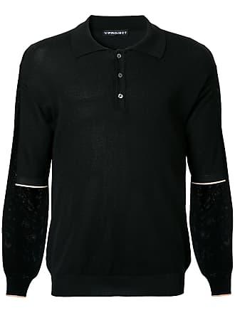 Y / Project Camisa polo mangas três quartos - Preto