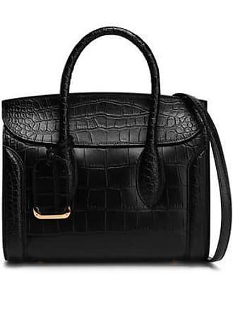51a9d48228fd Alexander McQueen Alexander Mcqueen Woman Heroine Croc-effect Leather Tote  Black Size
