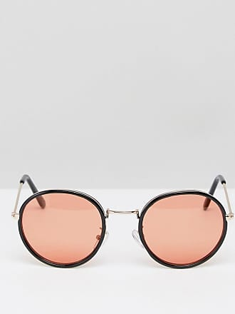 68c2c348397 Asos ASOS Round Sunglasses In Black With Orange Lens - Black