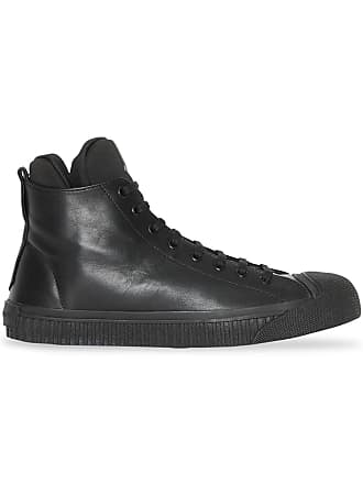 4c8e2259e Burberry Leather and Neoprene High-top Sneakers - Black