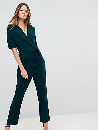 bd00ca9afca Asos Tall ASOS DESIGN Tall Wrap Jumpsuit with Self Belt