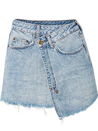 bb709b84aa Ksubi Rap Frayed Denim Mini Skirt - Light denim