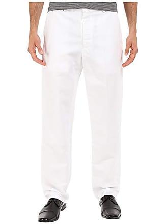 Perry Ellis Linen Suit Pants (Bright White) Mens Casual Pants