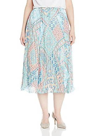 Ruby Rd. Womens Plus-Size Long Gored Broomstick Pleated Yoryu Skirt, Sprout Multi, 20W