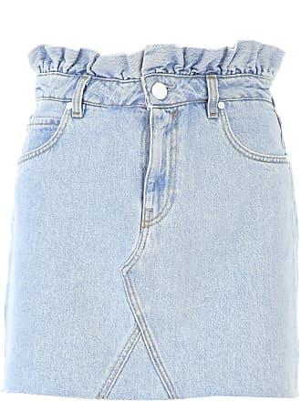 a16de87a85 Pinko Skirt for Women On Sale, Light Blue Denim, Cotton, 2017, 26