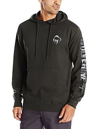 Wolverine Mens Graphic Camo Claw Hooded Sweatshirt, Charcoal, Medium