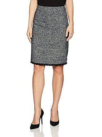 Ellen Tracy Womens Petite Size Tweed A-line Skirt with Fringe Trim, Night Sky Multi, 12P