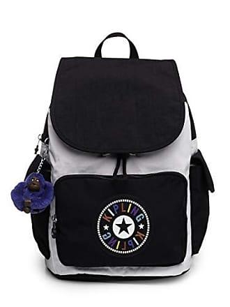 Kipling Womens City Pack Medium, Adjustable Backpack Straps, Zip Closure, BW Combo