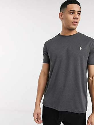 Polo Ralph Lauren T-shirt tecnica antracite mélange con logo-Grigio
