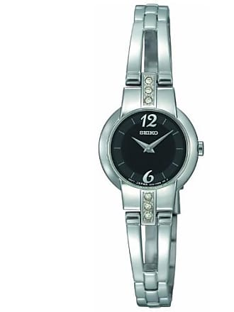 Seiko Womens Quartz Crystal Accented Silver Tone Stainless Steel Watch SUJG43