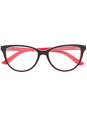 Calvin Klein Armação de óculos color block - Marrom