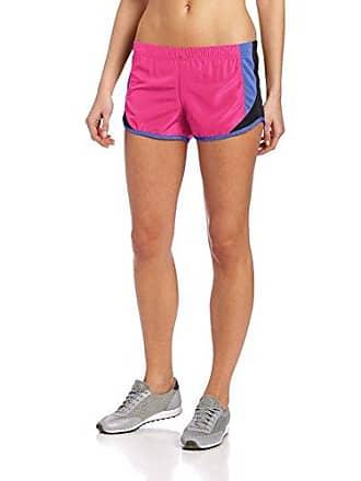 Soffe Womens Shorty Short, Pink Glo/Black/Amparo Blue, X-Large