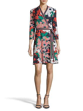 5twelve Printed Tie-Front Flounce Wrap Dress