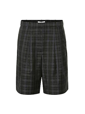 Tibi Checked wool-blend shorts