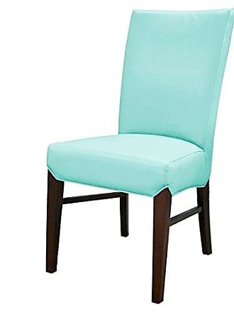 New Pacific Direct 268239B-8264 Milton Bonded Leather, Set of 2 Dining Chairs, Aqua Blue