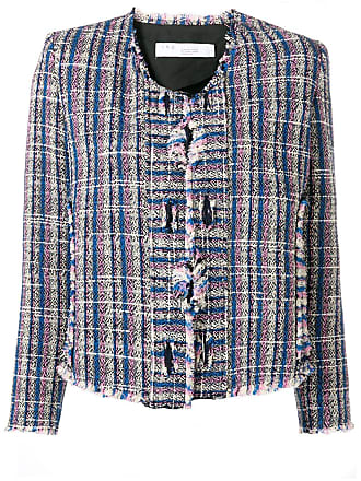 Iro knitted style structured jacket - Azul