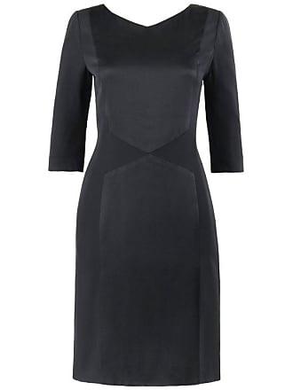 cd7f2a550d8 Bill Blass C.1990s Black Two Tone Silk Shift Cocktail Dress