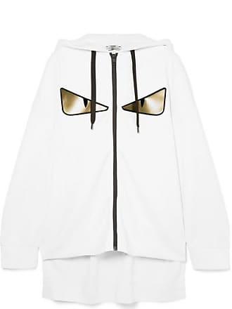 Fendi Wonders Oversized Printed Neoprene Hoodie - White