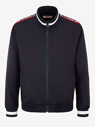 Bally Logo Stripe Trim Tracksuit Jacket Blue 7