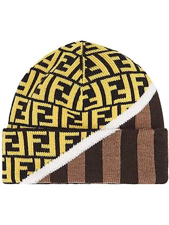 d304631189e23 Logo-intarsia Ribbed Virgin Wool Beanie - Black. Delivery  free. Fendi FF  motif dual-pattern beanie hat - Brown