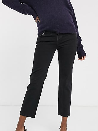 Asos Maternity ASOS DESIGN Maternity high rise stretch slim straight leg jeans in black with over the bump band