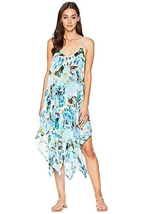 La Blanca Womens V-Neck Maxi Scarf Dress, Painted Love, Medium