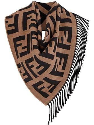 Fendi triangular FF logo shawl - Marrom