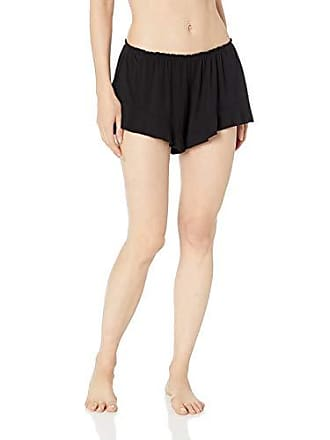 Eberjey Womens Ivy Flounce Short, Black Large