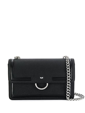 Pinko ring detailed crossbody - Black