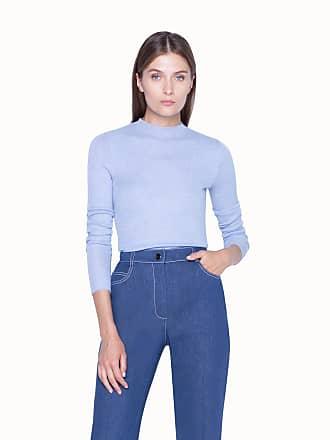 Akris Knit Pullover in Fine Rib Cashmere Silk