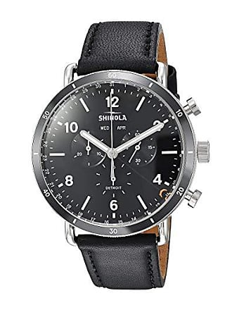 7027f8bbe Shinola The Canfield Sport Chronograph Calendar 45mm - 20089889 (Black  Leather Strap/Black Dial