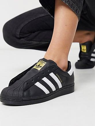 adidas Originals Courtside Superstar - Schnürsenkellose Sneaker in Schwarz-Weiß