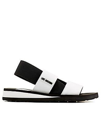 Love Moschino Two-tone elastic strap sandals
