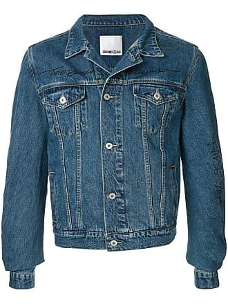 Ground-Zero Jaqueta jeans com recorte na manga - Azul