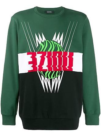 Diesel colour block motif sweatshirt - Green