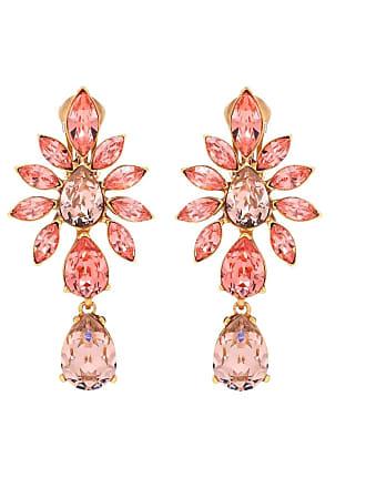 Oscar De La Renta Crystal clip-on earrings