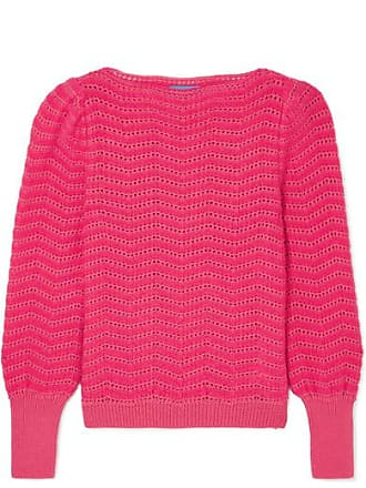 Mih Jeans Celia Pointelle-knit Mohair-blend Sweater - Pink
