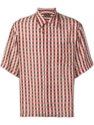 Qasimi red checked shirt