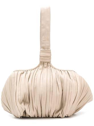 Max Mara pleated satchel bag - Neutro