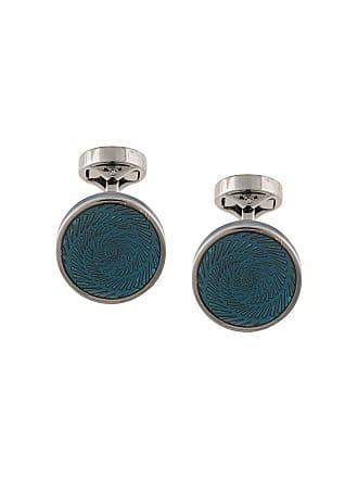 Tateossian petrol blue spiral motif cufflinks - Azul